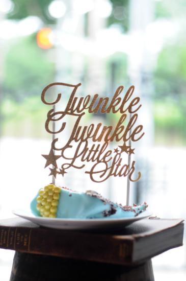 twinkle twinkle little stars cake slice