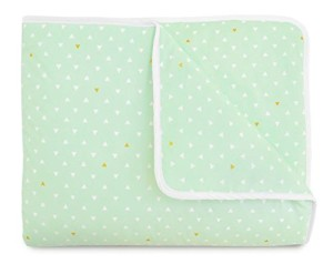 Mint Gold Modern Nursery quilt