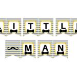 Free Printable Little Man Banner