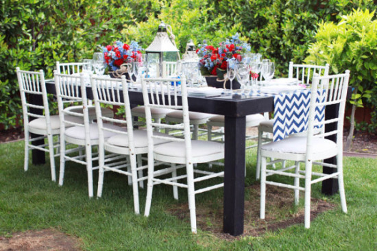 Ahoy it's a Boy Nautical Baby Shower table setting (2)