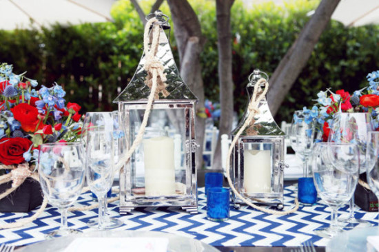 Ahoy it's a Boy Nautical Baby Shower table setting (3)