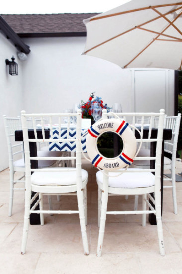 Ahoy it's a Boy Nautical Baby Shower table setting (6)