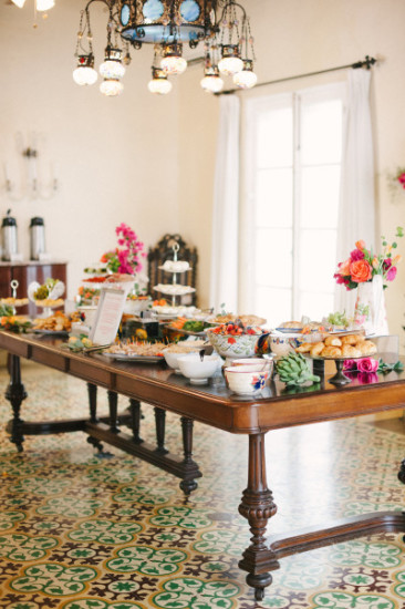 Italian Themed Baby Shower in Villa Setting food