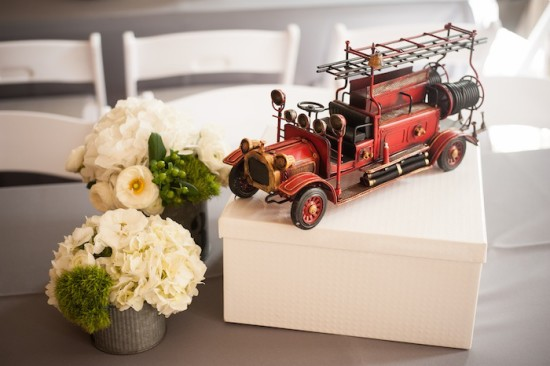 Vintage Fire Truck Baby Shower