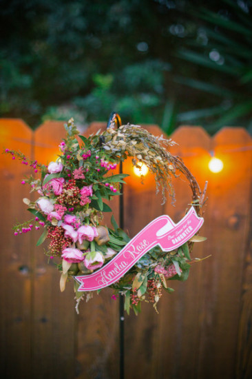 Whimsical & Vintage Baby Shower decoration ideas floral wreath