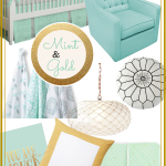 Mint Green and Gold Nursery