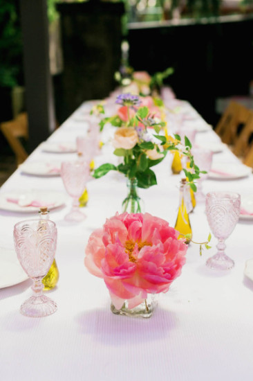 shabby chic outdoor garden baby shower ideas elegant table setting
