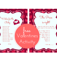 FREE Printable Valentines Baby Shower Activities