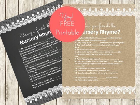 free-nursery-Rhyme-baby shower-game-chalkboard