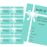 FREE Tiffany Baby Shower Printable