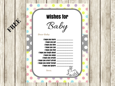 Free easter baby shower Wishes for baby printable