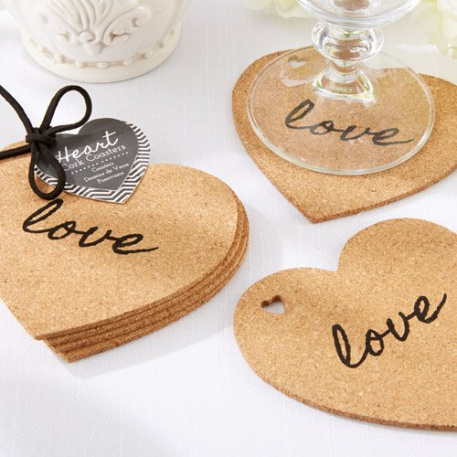 Heart Shaped Cork Coaster