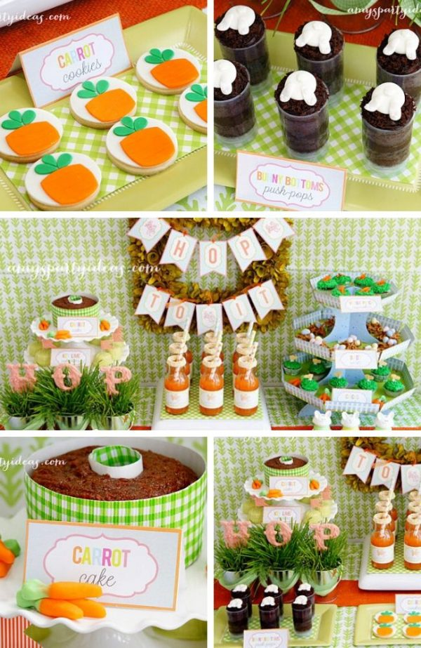 Hop to it easter Baby shower Tablescape (1)