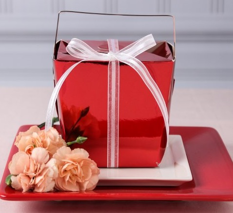 valentine red foil Large-Chinese-box
