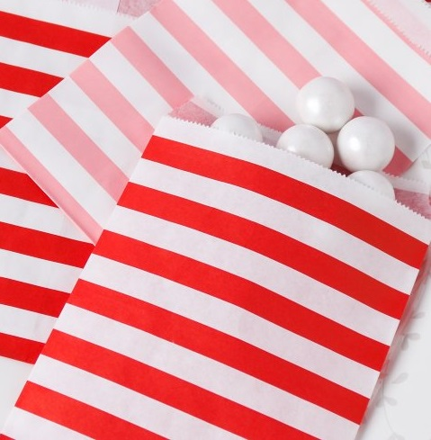 red stripes Paper-Treat-Bags
