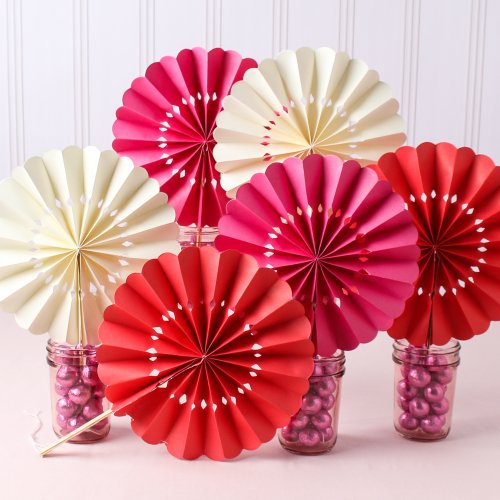 Pinwheel Paper Hand Fan