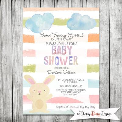 Some Bunny Special Baby Shower Printable Invitation - 5 x7 JPG