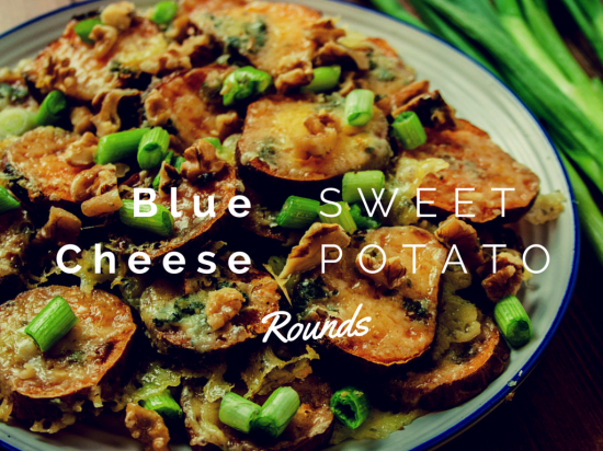 How to make Blue Cheese Sweet Potato Rounds, Savoury Baby Shower food ideas