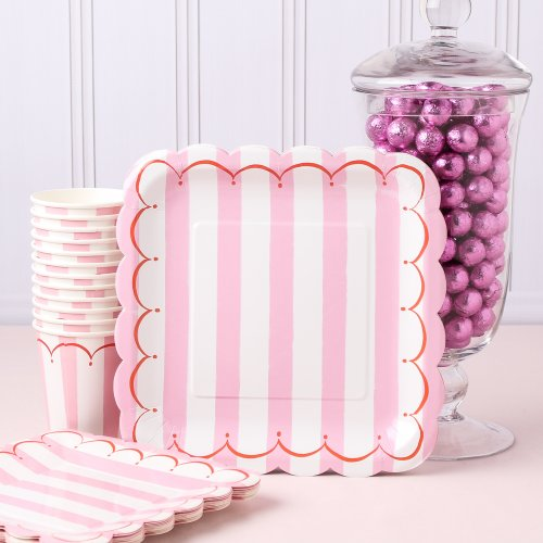 fabulous-february-valentines-baby-shower-ideas-Toot Sweet StripeParty Plate