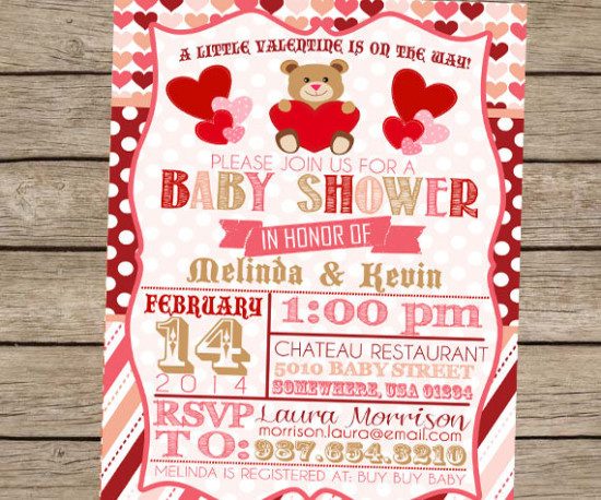 Valentine Baby Shower invites