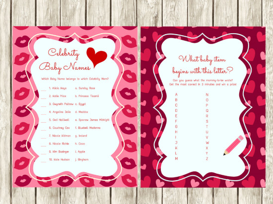 Valentines Day Baby Shower Games