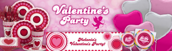 Valentine's Day party supplies, decorations, and favors