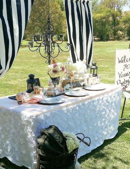 black-white-striped-Ooh-la-la-Parisian-Baby-Shower-decorations-dessert-table