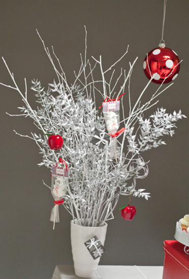 silver Christmas tree branches