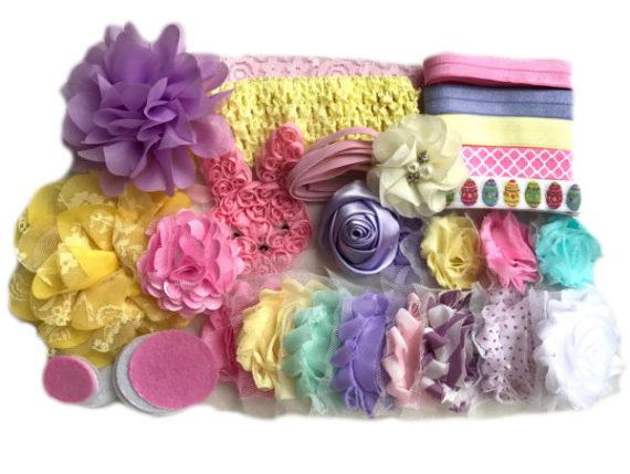 easter-baby-shower-headband-making-station