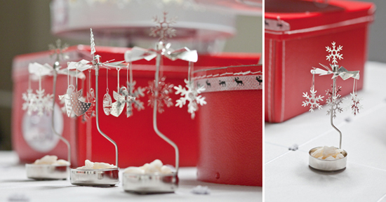 snowflake candle holders