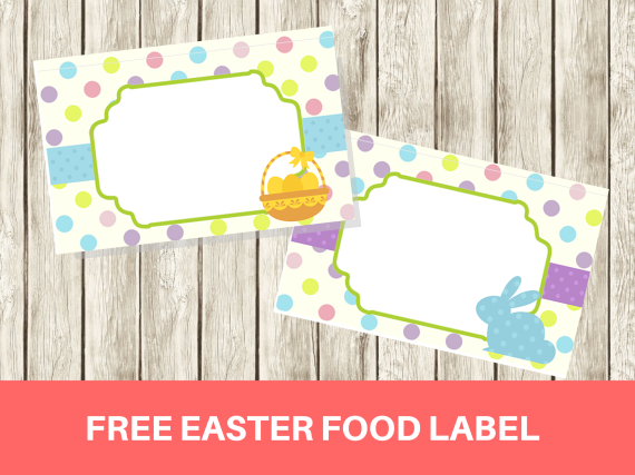 free easter food label