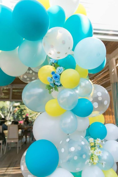 gorgeous-baby-boy-shower-balloon-decorations-yellow-blue-decor