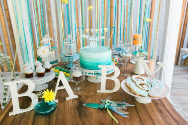 turquoise_gorgeous-baby-boy-shower-main-table-decorations