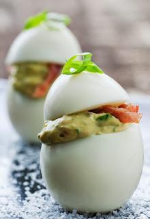 vertical deviled egg