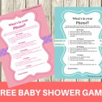 FREE Printable Modern What's in your Phone Baby Shower Game