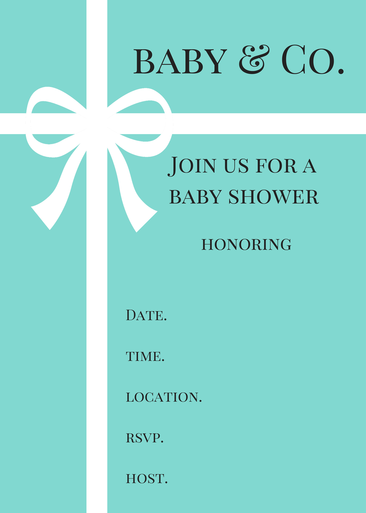 FREE Tiffany Baby Shower Printable - Baby Shower Ideas ...
