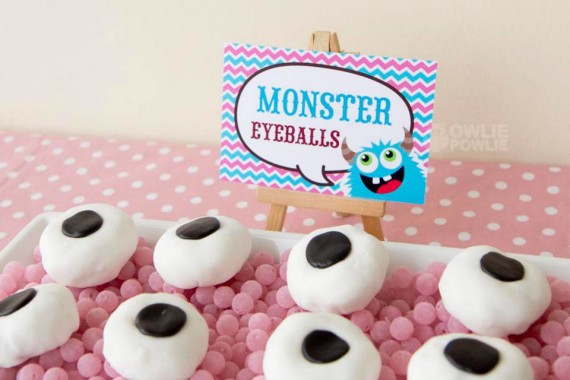 Girl MONSTER BASH BABY SHOWER monster eyeballs snacks