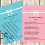 FREE Printable How Well Do You Know The Mommy to-be Game