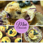 Mini Blueberry Vanilla Cheesecakes