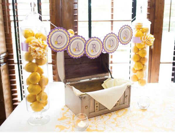 Wishes vintage box with lemon in jars