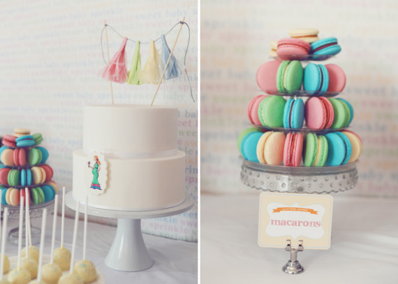 pretty-pastel-baby-shower-centerpiece-cake-macarons