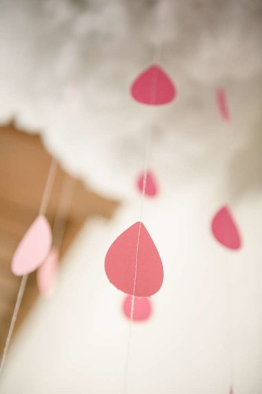 rainbow rain white cloud decorations showered