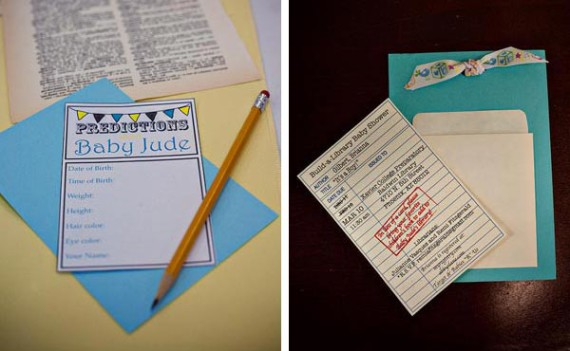 school library baby shower invitation
