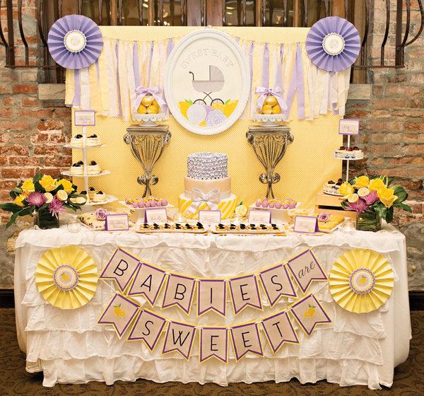 Sweet Lemon & Lavender Baby Shower