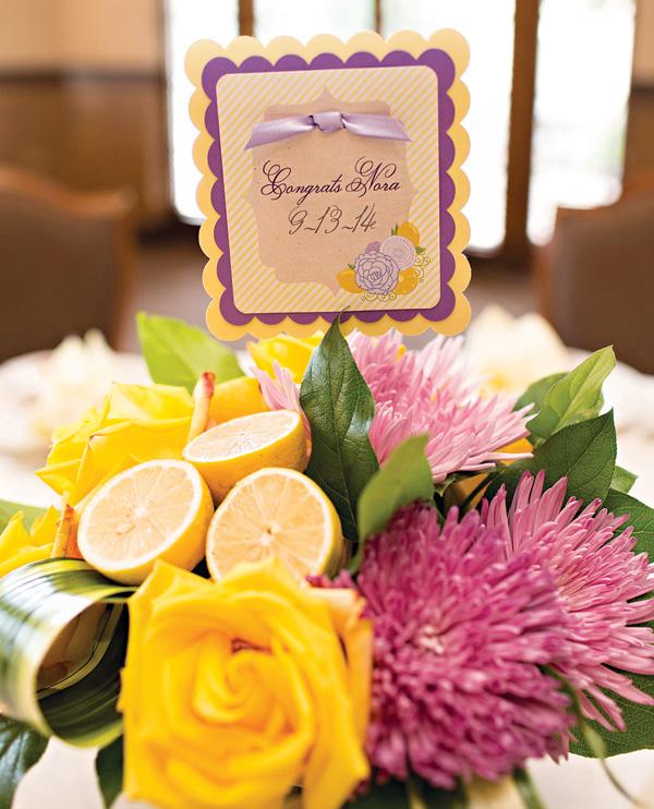 sweet-lemon-lavender-baby-shower-florals-with-lemons