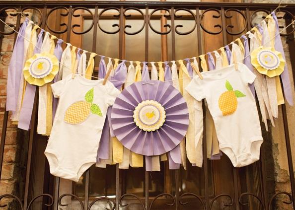 sweet-lemon-lavender-baby-shower-tassels-onesies-decors