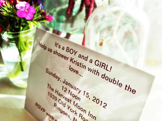 twin boy and girl baby shower sweet message