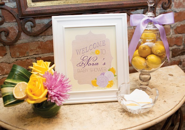 welcome-sign-yellow-baby-shower-theme