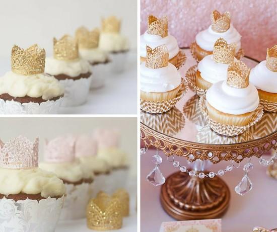 princess baby shower mini cupcake crowns