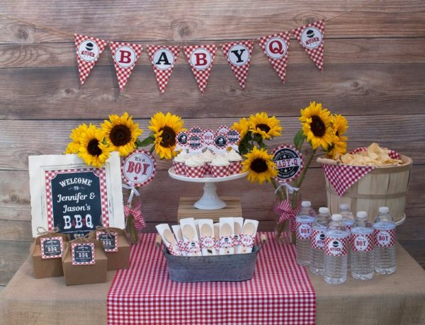 bbq-baby-shower-food-table